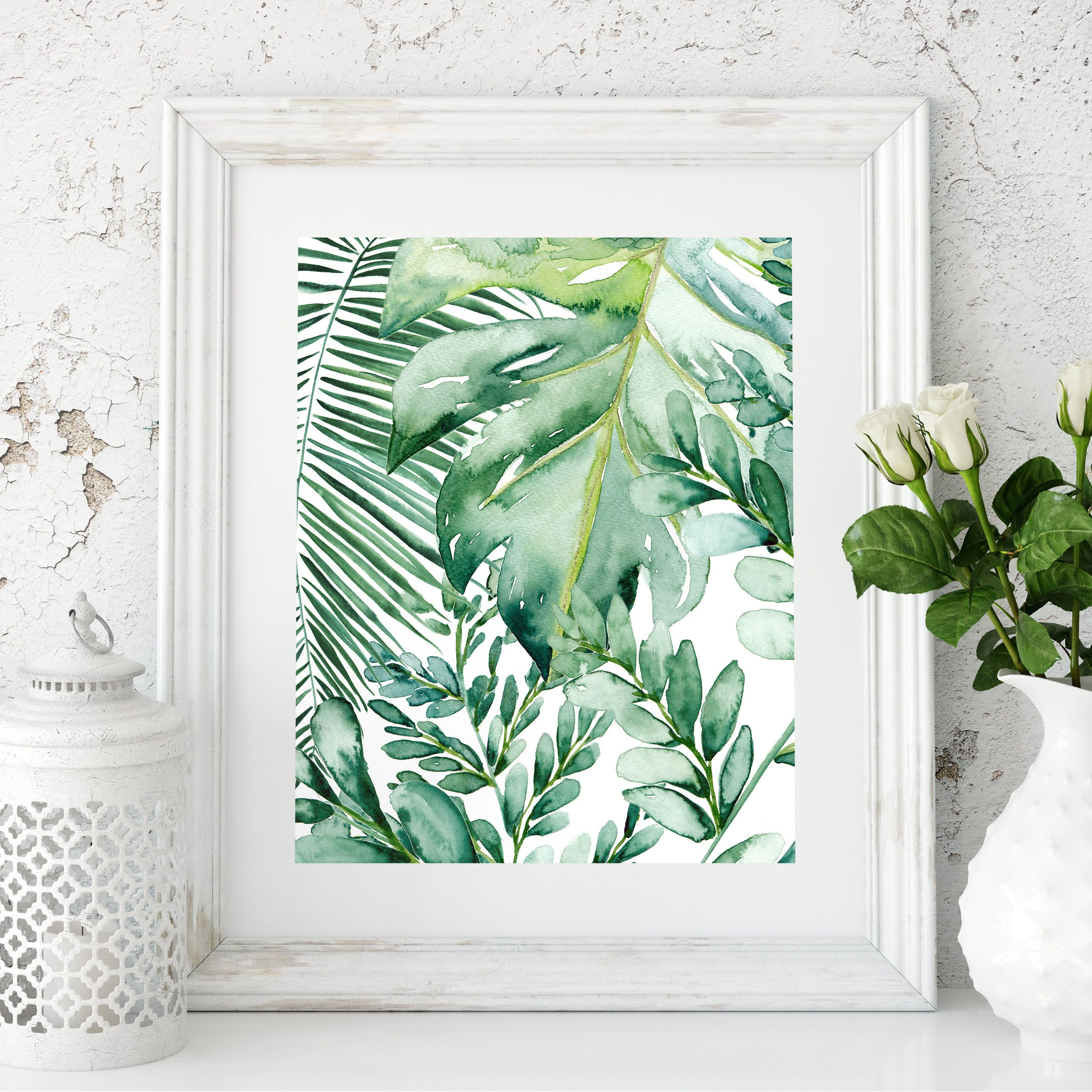 Banana Leaf Wall Art Banana Leaf Decor Palm Leaf Art Print Etsy Leaf Art Banana Leaf Decor Leaf Wall Art