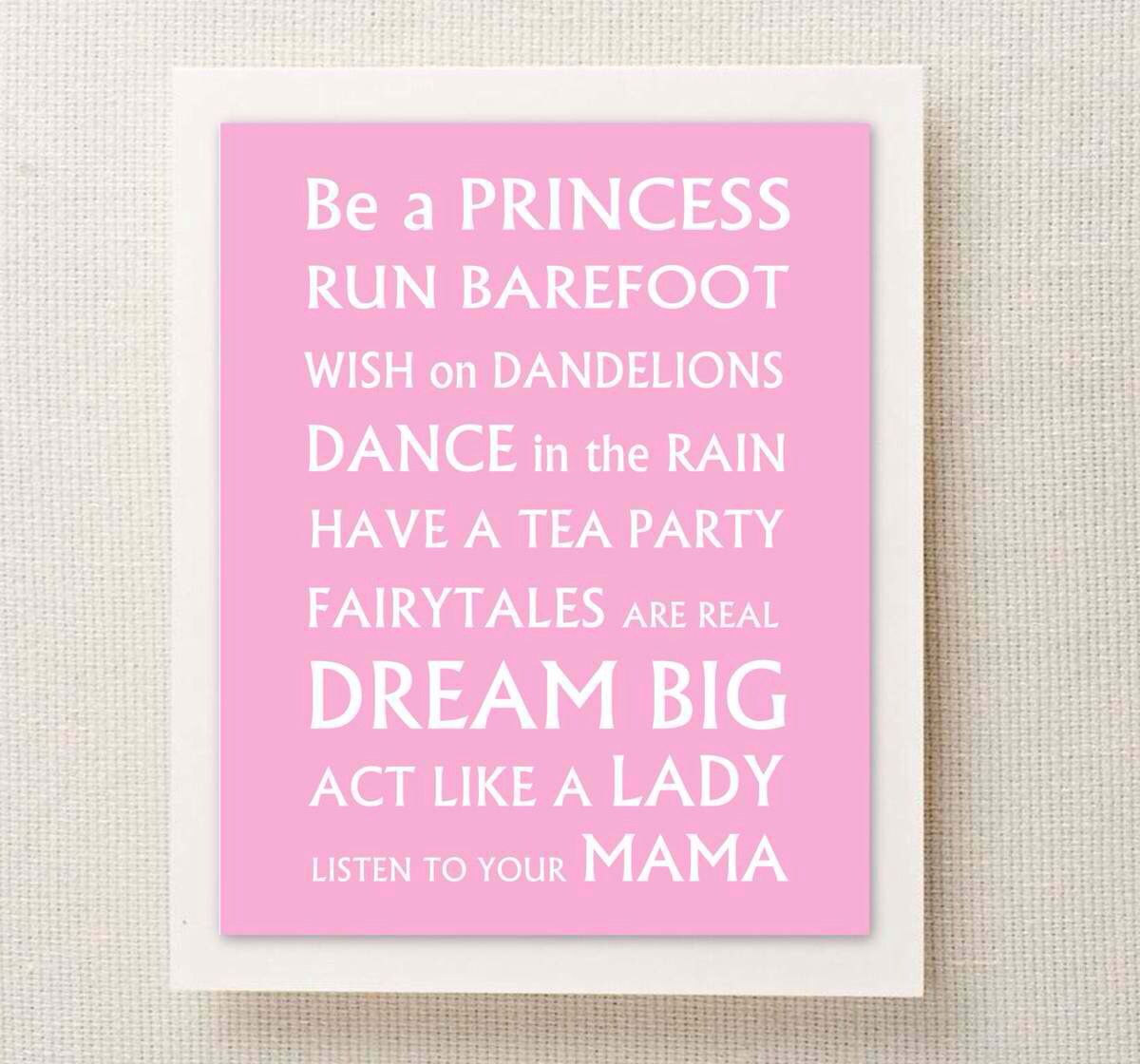 Girly Bedroom Accessories: Cute Saying For A Baby Girl!