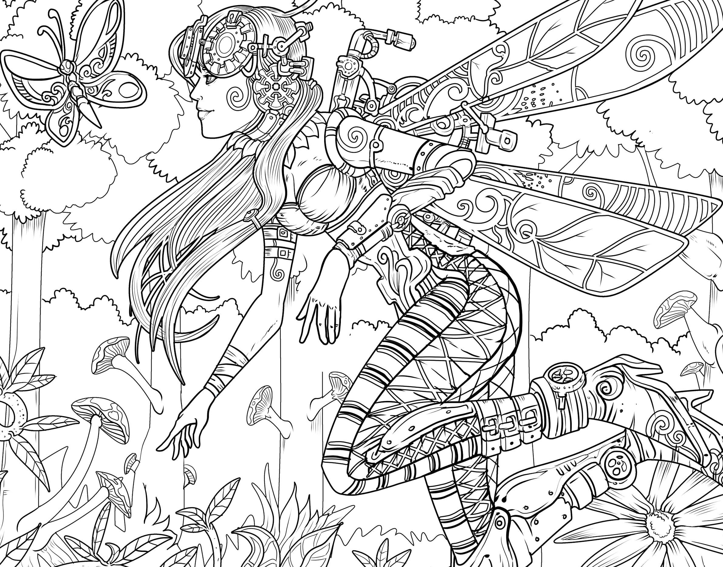 Flowers Coloring Book Pdf Awesome Steampunk Life