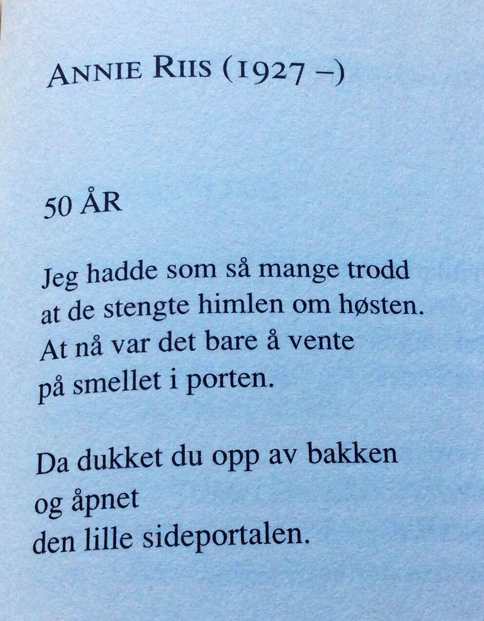 50 års dikt
