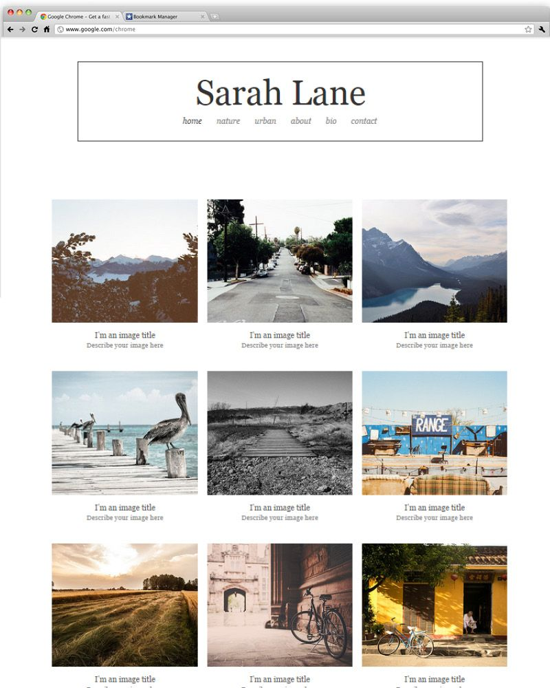 Outdoor Photography Portfolio | Wix Website Templates | Pinterest ...