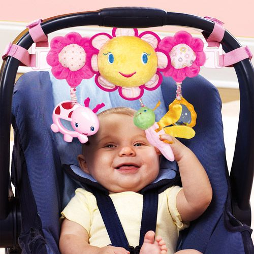 Bright Starts Petal Pusher Car Seat And Stroller Toy Bar Pink WalmartGreen