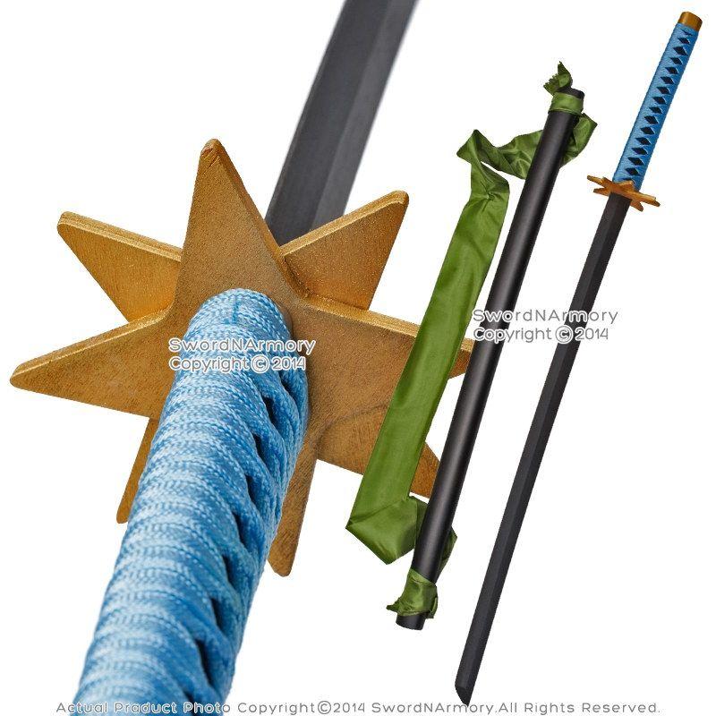 Anime Toshiro Hitsugaya Wooden Fantasy Sword Ice Ring Samurai Katana Cosplay Swordnarmory Com Game Anime Swords Fantasy Sword Sword Anime