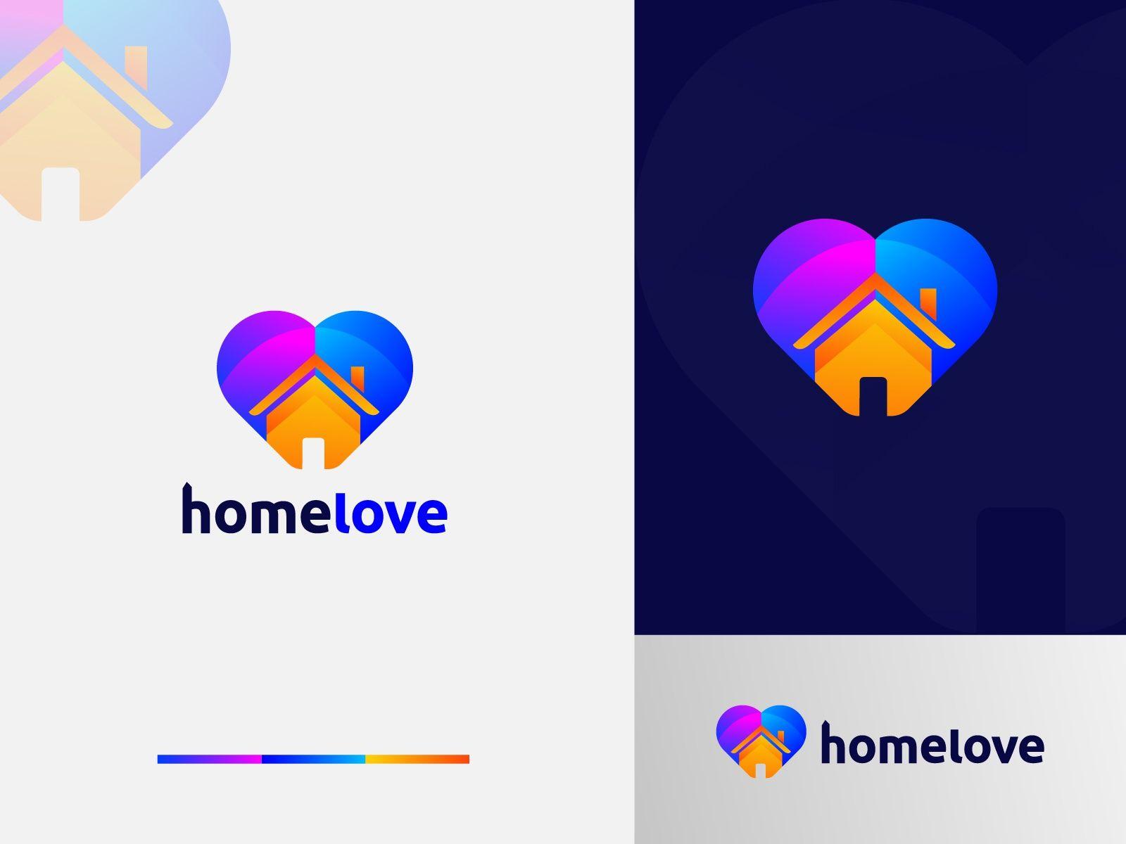 HomeLove Logo Design - Love + Home Logo Mark by Freelancer Iqbal | Logo Designer