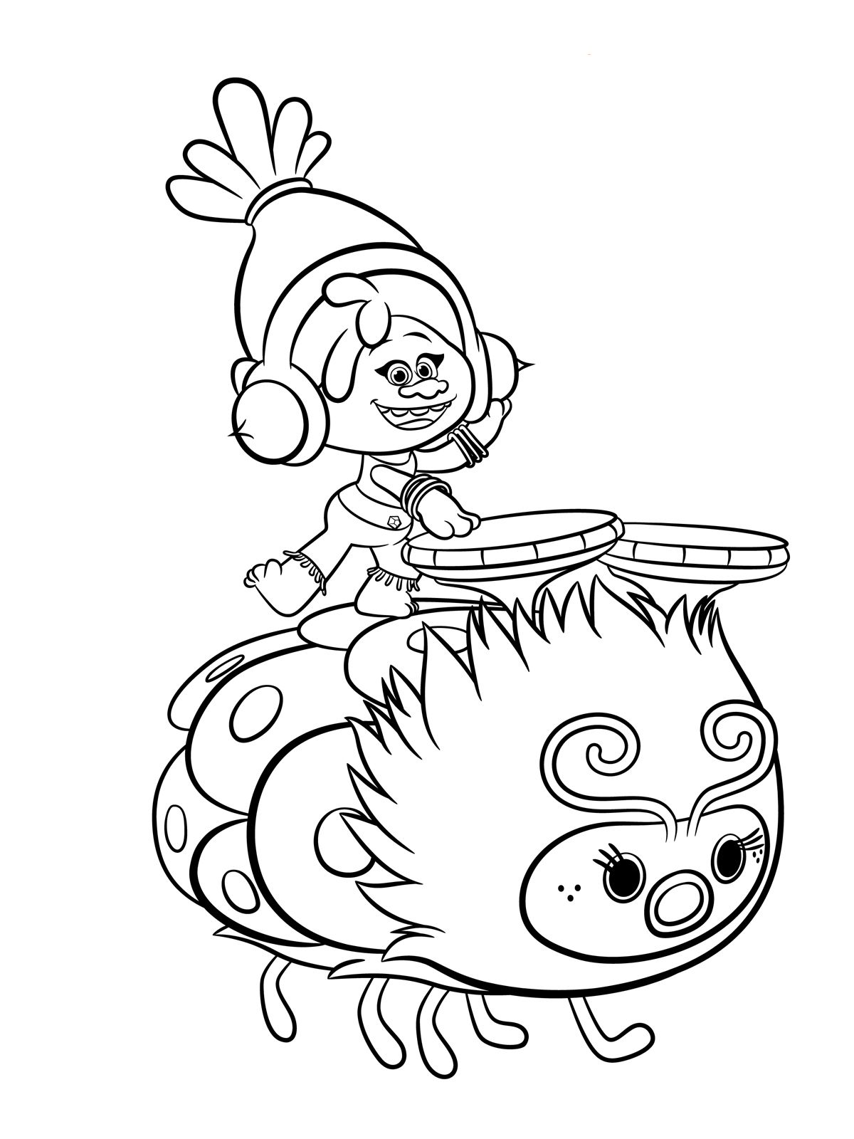 Trolls Coloring Pages To Download And Print For Free Coloring The