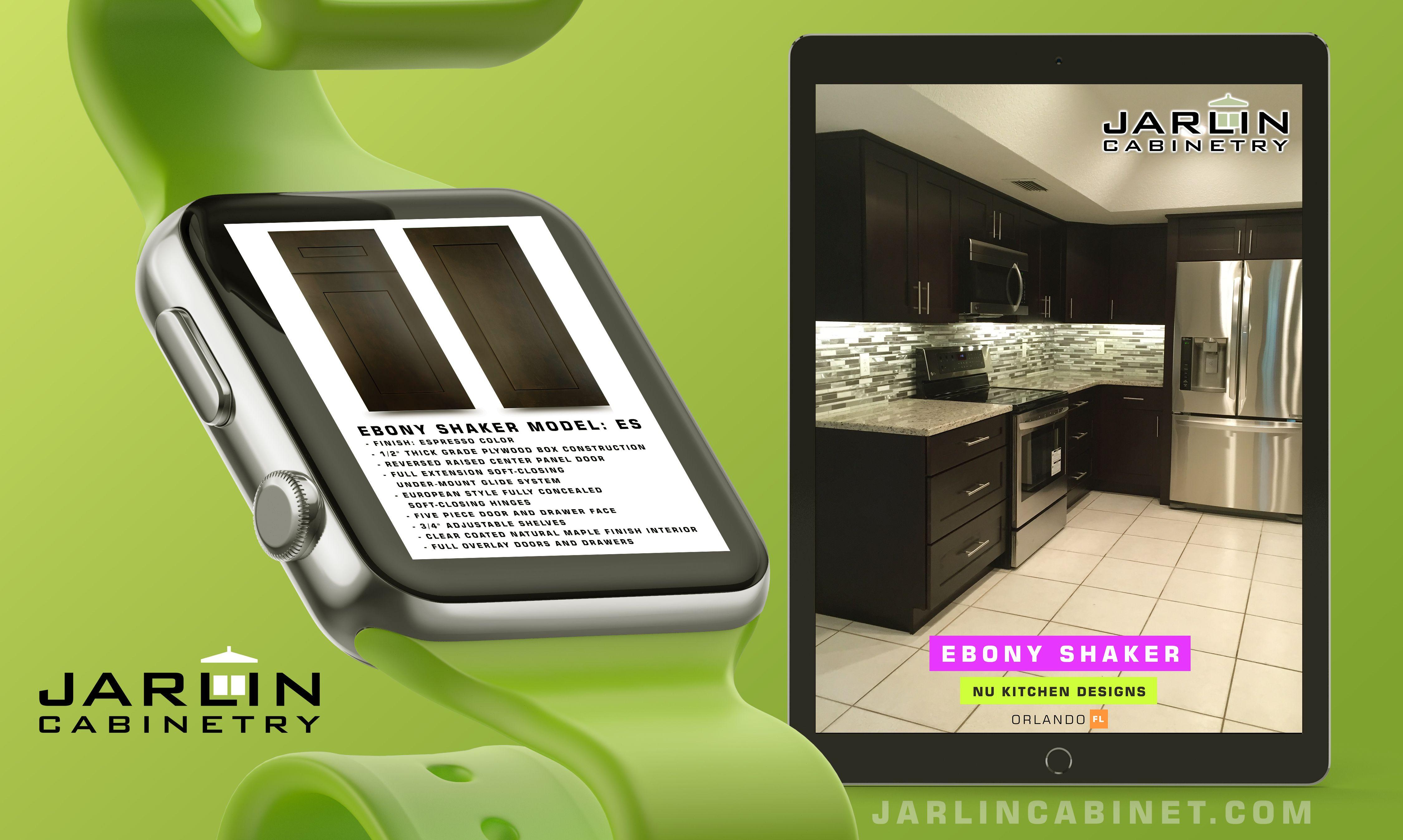 Best Ebony Shaker Nukitchendesigns Orlando Kitchen Cabinets 400 x 300