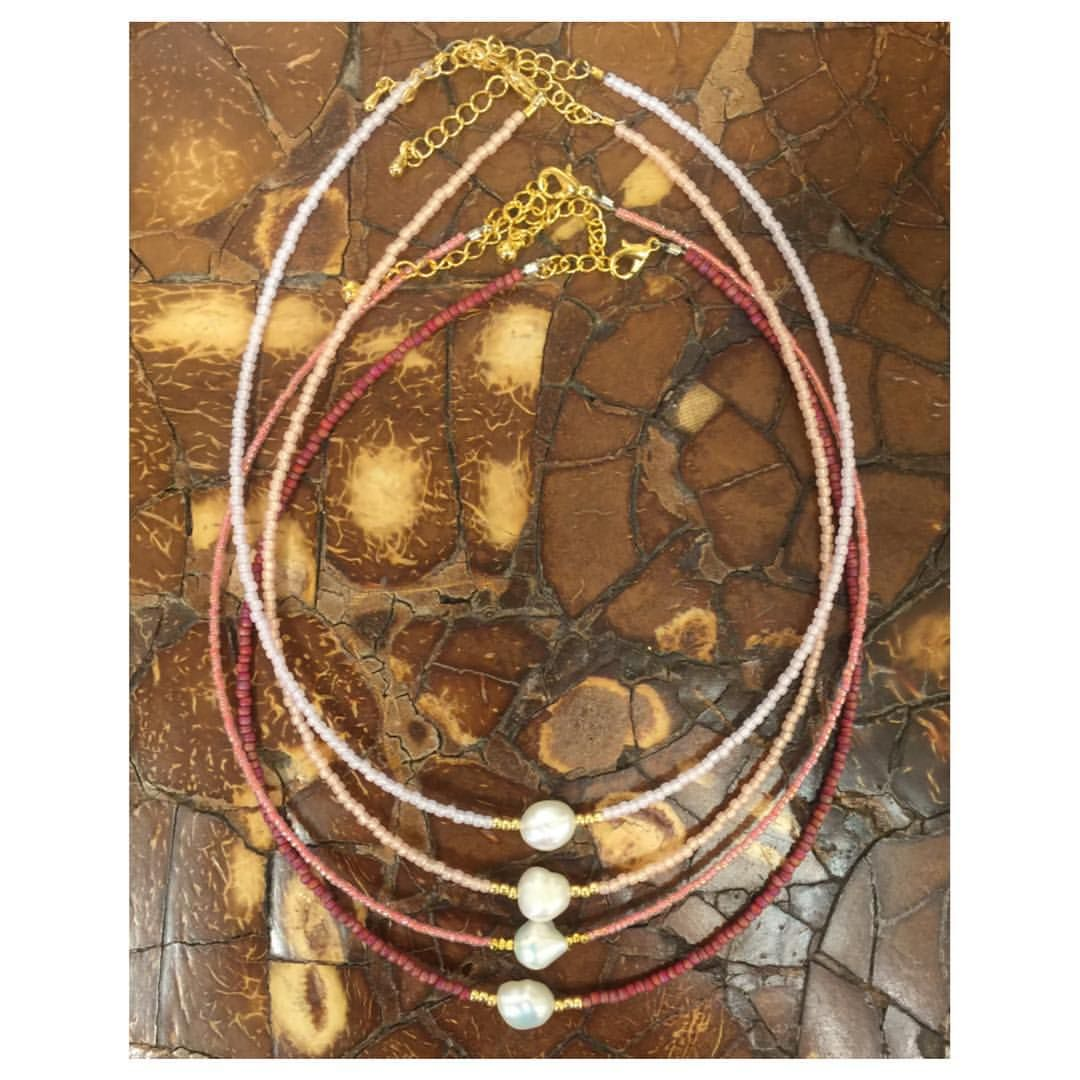 INDIAN SUMMER SEED BEAD & SINGLE PEARL NECKLACE www.splashtribe.com