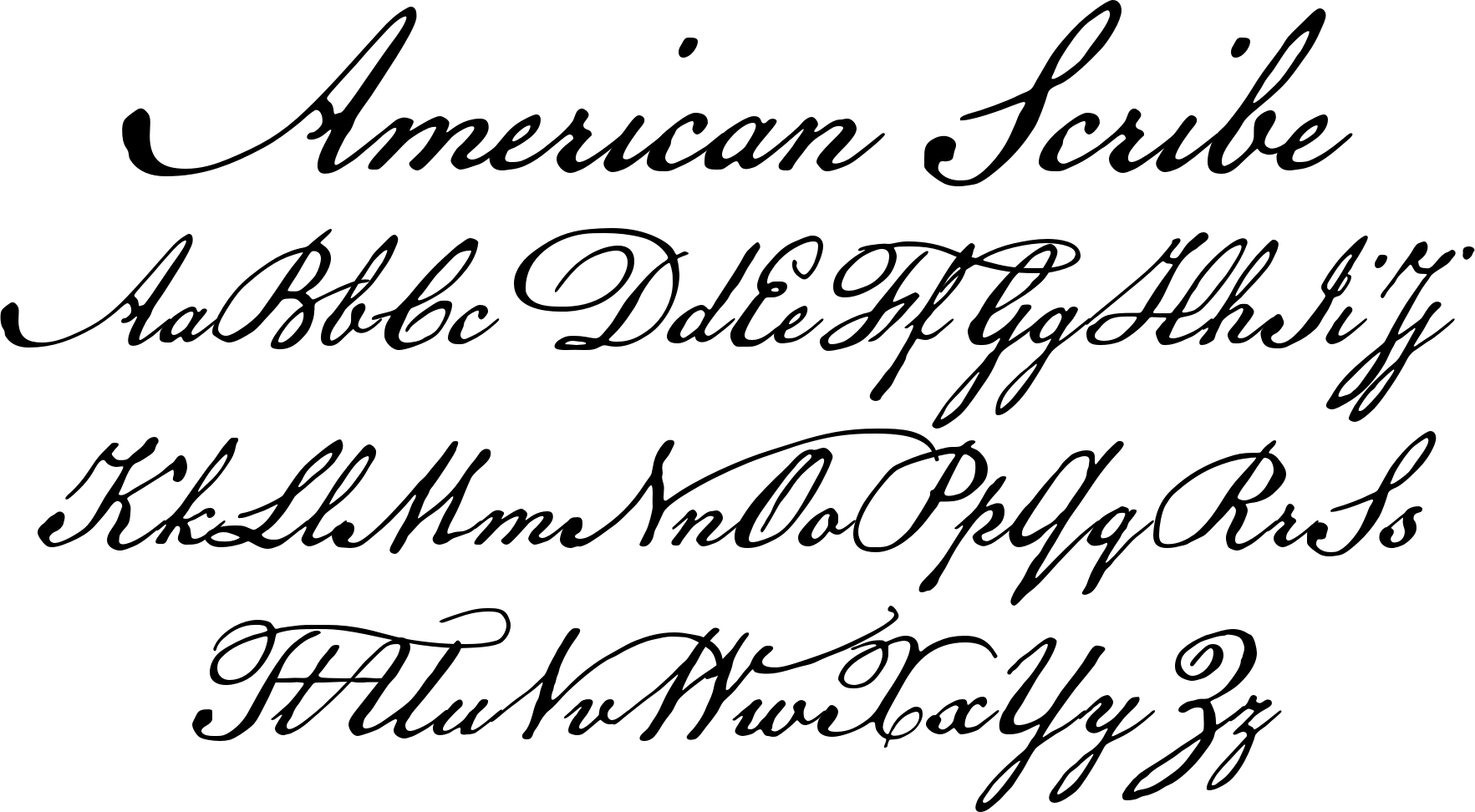 American scribe font by three islands press the