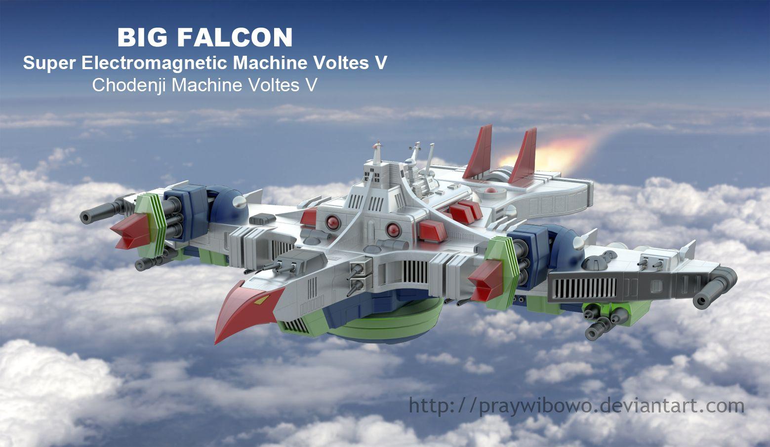voltes 5 | Voltes V Big Falcon by praywibowo on deviantART