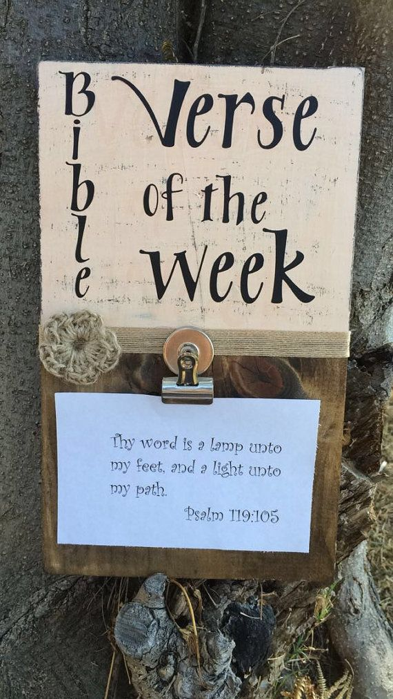 Bible Verse of the week Devotional Bible by Mariescountryshop