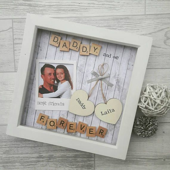 Fathers day Daddy, Fathering Sunday, Scrabble Art Frame, Frame For ...