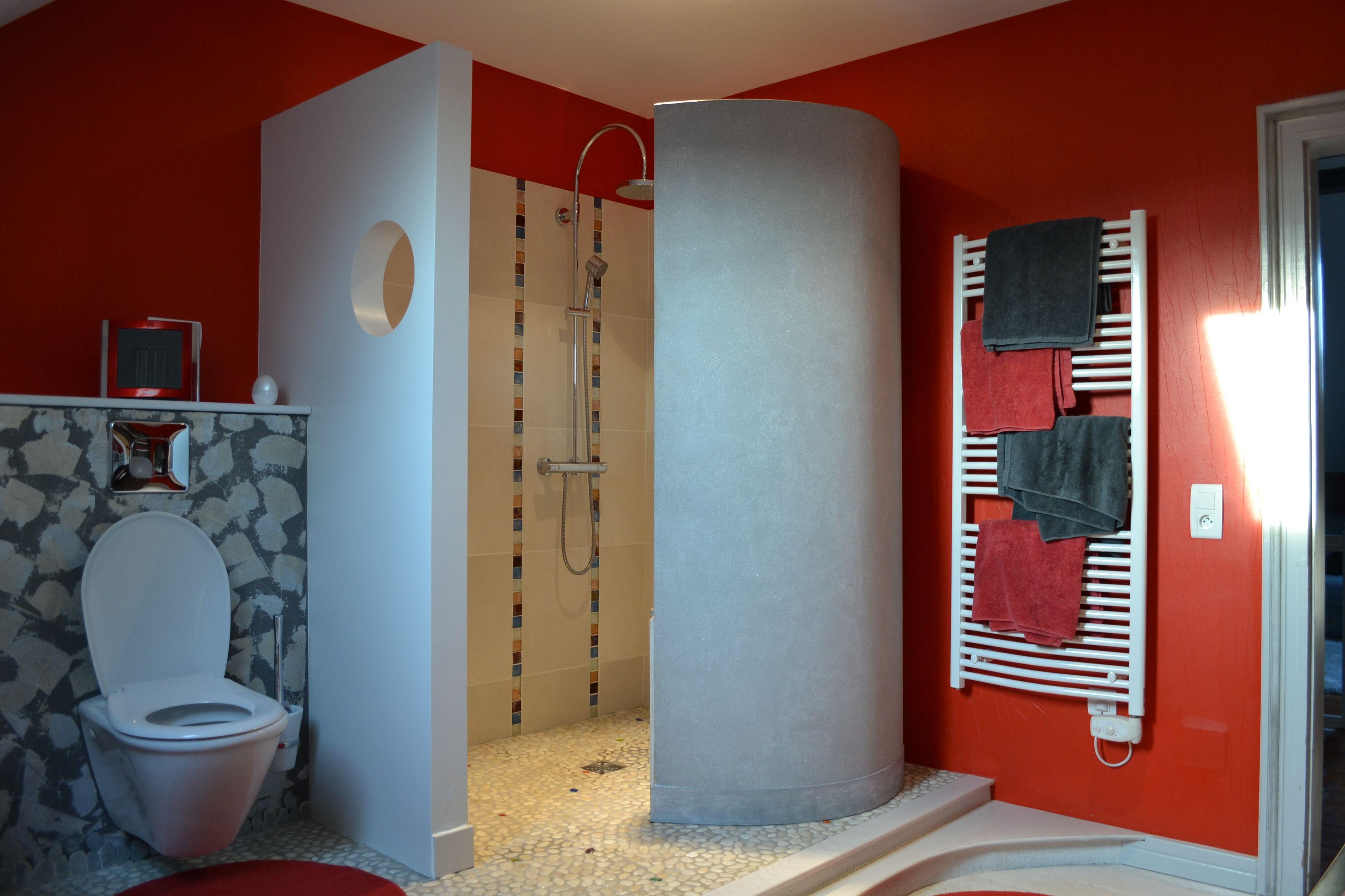 Cloison salle de bain s paration douche l 39 italienne wc salle de bain - Cloison douche italienne ...