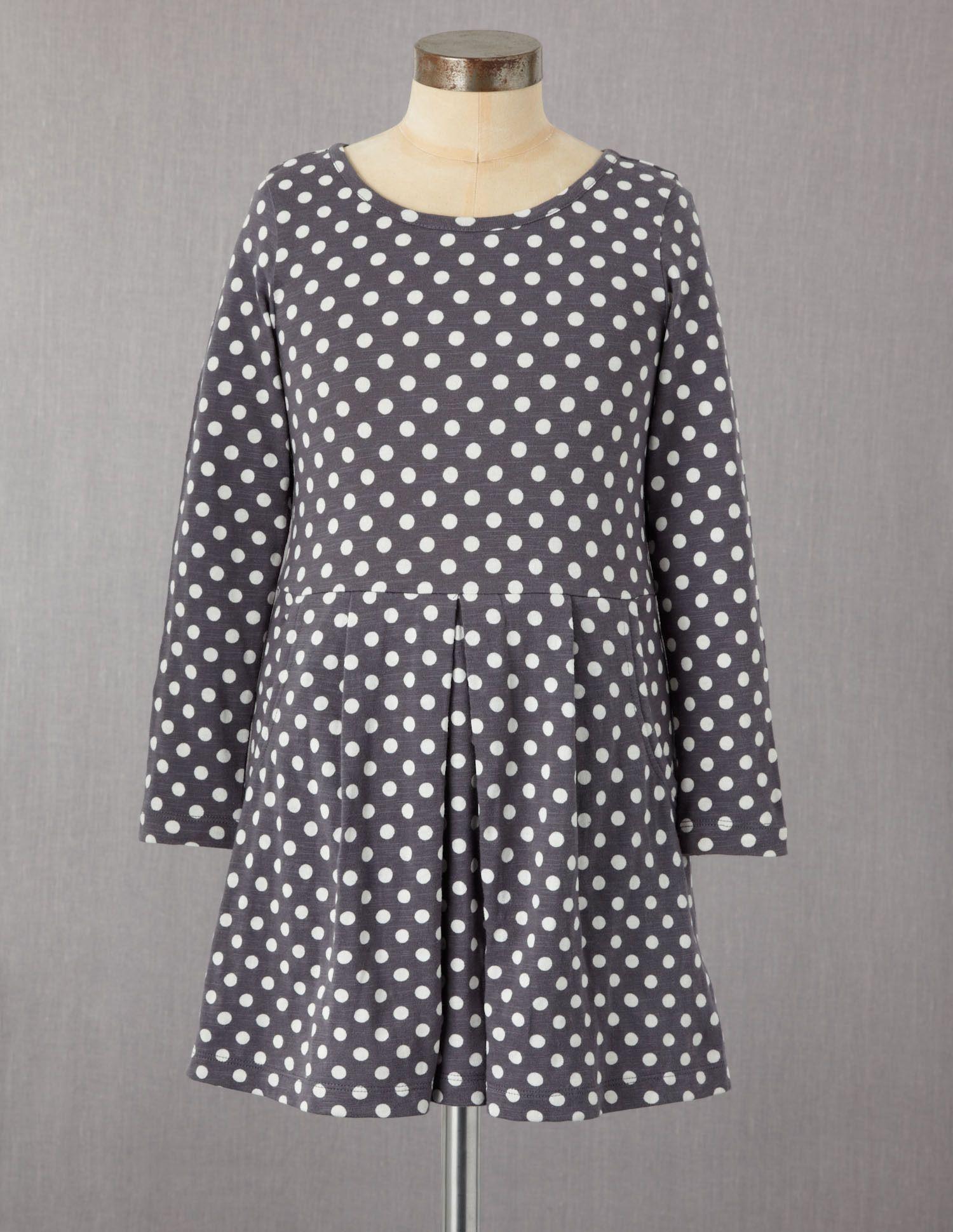 Slouchy Jersey Polka Dot Dress