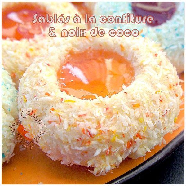 Sablés à La Noix De Coco (et Confiture)