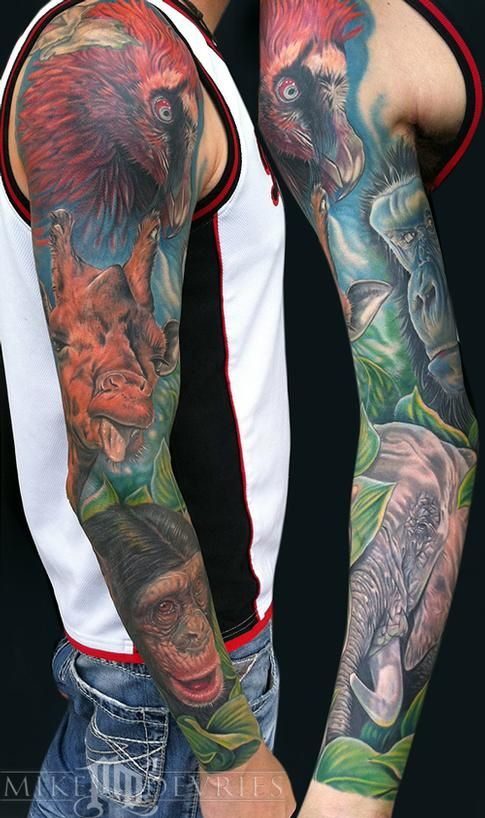 Mike Devries Tattoos Animal Animal Sleeve Sleeve Tattoos Animal Sleeve Tattoo Cool Tattoos