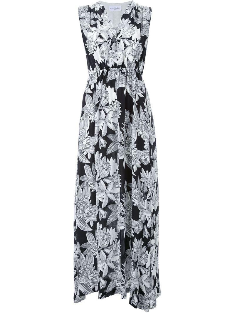 Megan Park 'Senna' maxi dress, Women's, Size: 12, Black, Silk