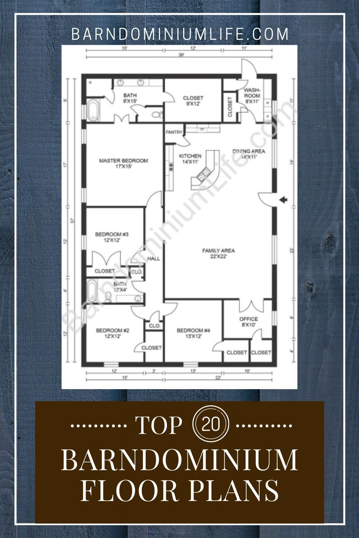 Barndominium Floor Plan Ideas Top 20 In 2020 Barndominium Floor Plans Barndominium Floor Plans