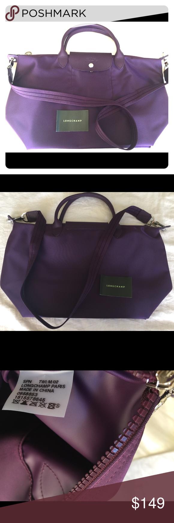 0d4d5996379e Longchamp Le Pliage Neo Medium Handbag Bilberry 💯 % Authentic Longchamp Le  Pliage Neo Medium Handbag Bilberry 1515578645. Brand new! Longchamp Bags  Totes