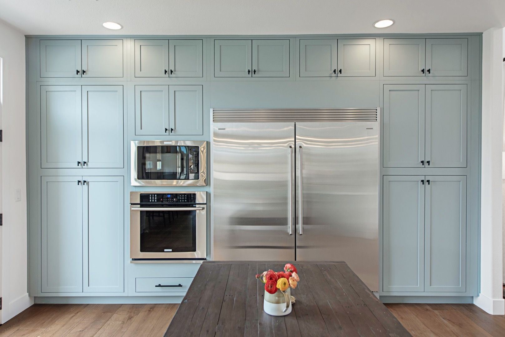 Upgraded Home Completed By Property Brothers Kitchen Cabinet Design Blue Kitchen Cabinets Blue Kitchens