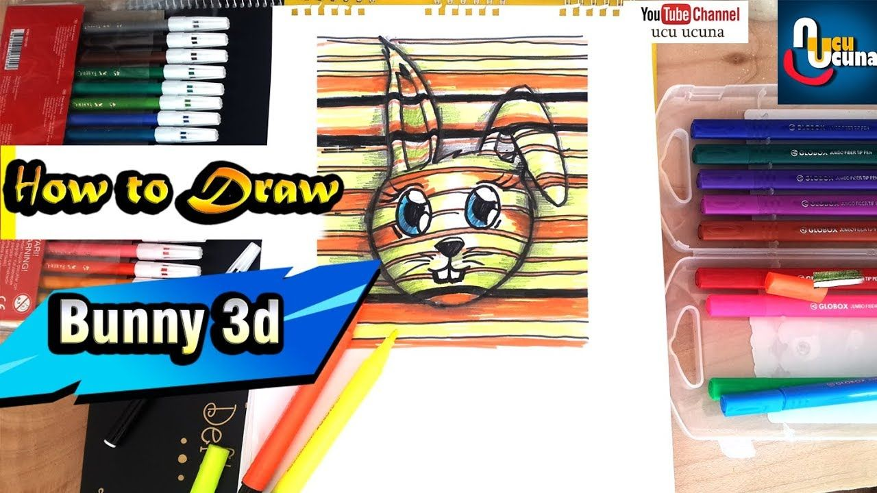 How To Draw A Cute Bunny 3d Speed Drawing Bunny Drawing Cute