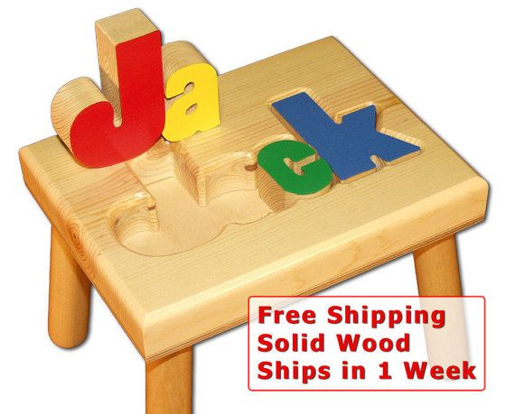 Childs name puzzle stool free shipping item 101 2 babys first childs name puzzle stool free shipping item negle Images