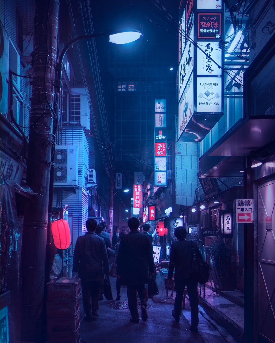 Sleepless City Streets Of Rainy Tokyo Nights Lit By Electric Neon