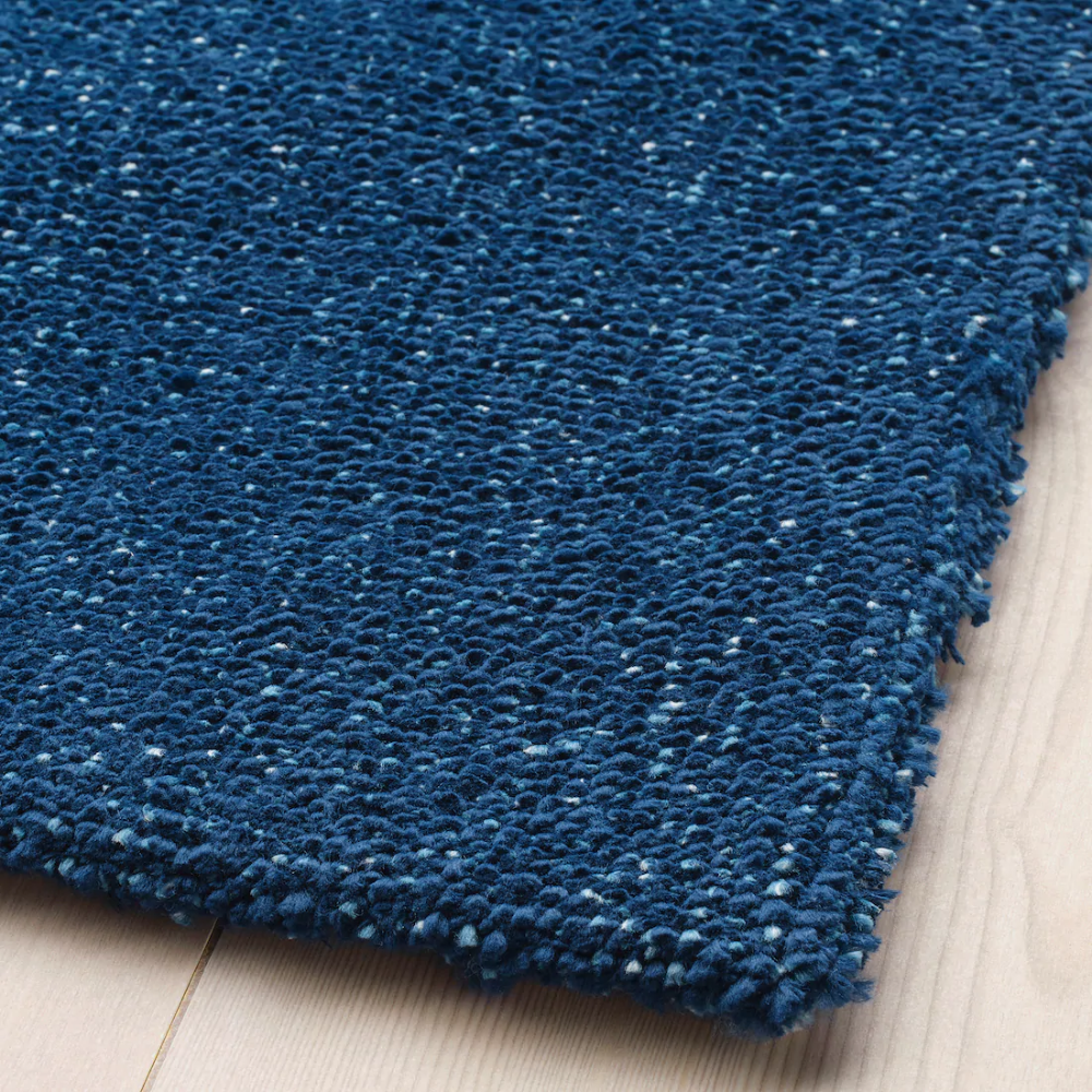 Tyvelse Tapis Poils Ras Bleu Fonce Rugs How To Clean Carpet