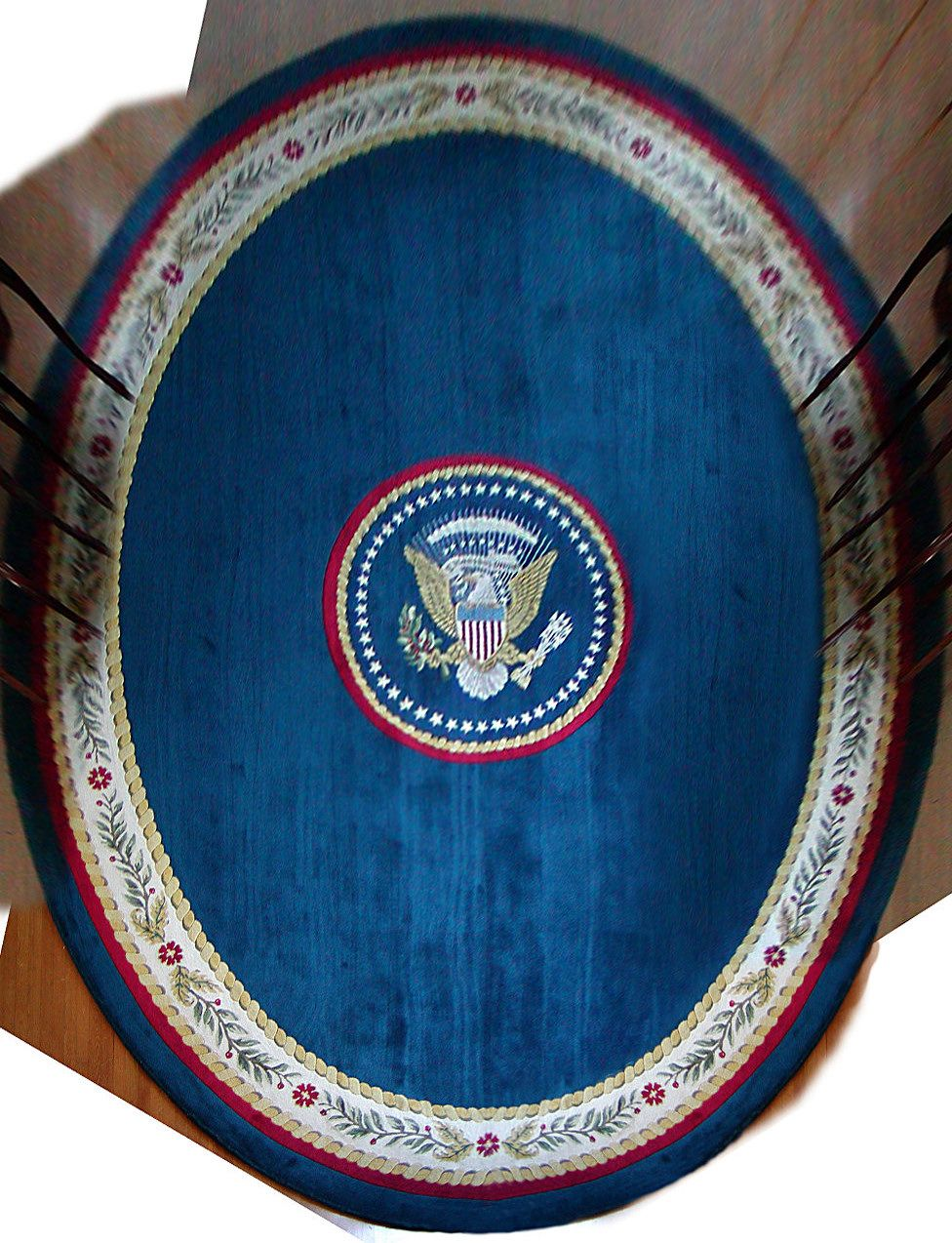 oval office carpet. President Clinton\u0027s Oval Office Rug, In A Strong And Classic Blue Carpet E