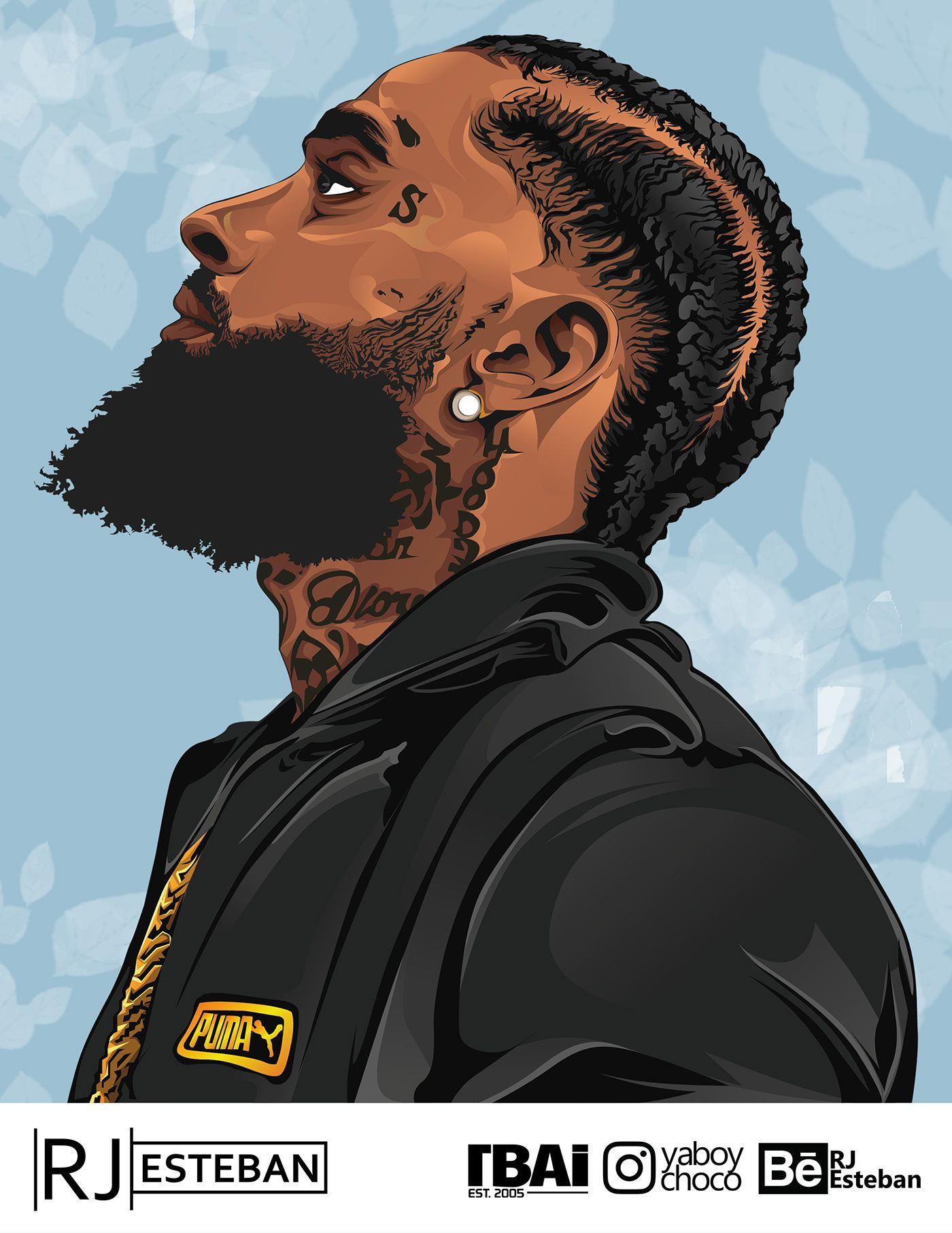 NIPSEY HUSSLE on Behance in 2020 (With images) Black