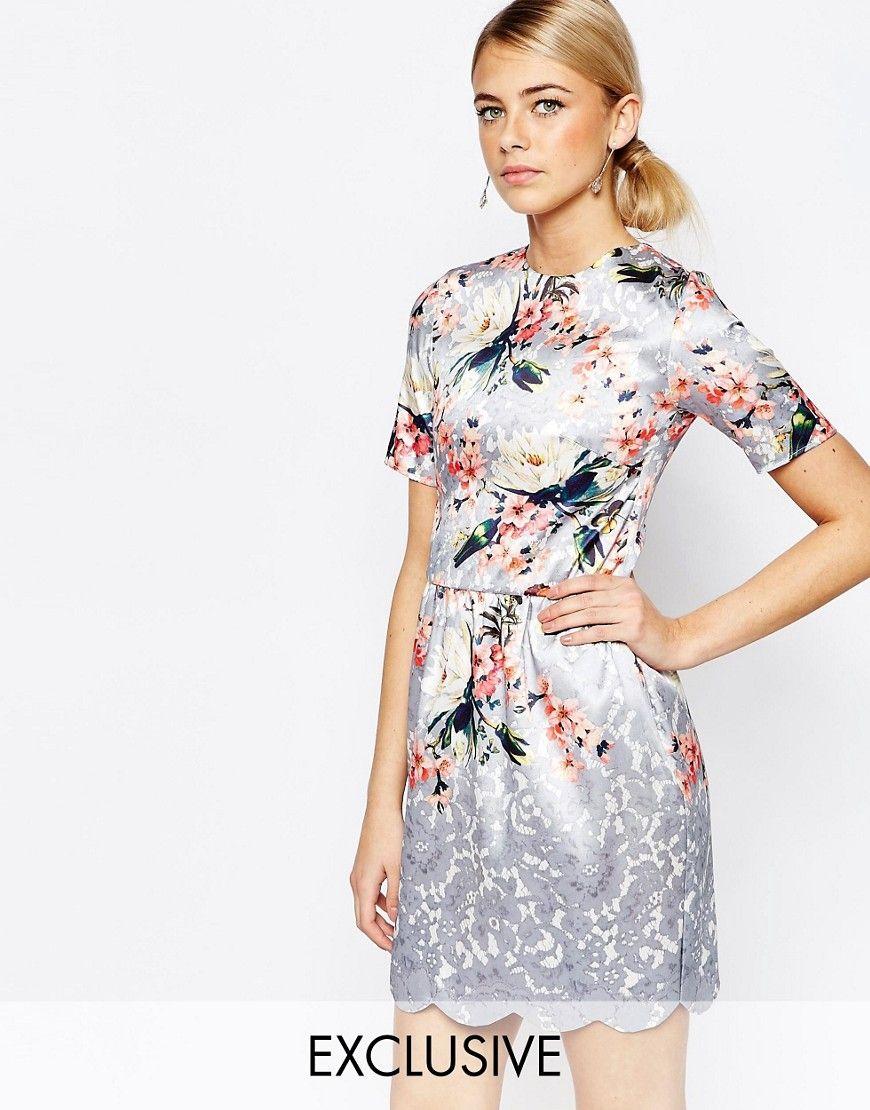 de0cb704eae4 Hope and Ivy Scallop Hem Midi Dress