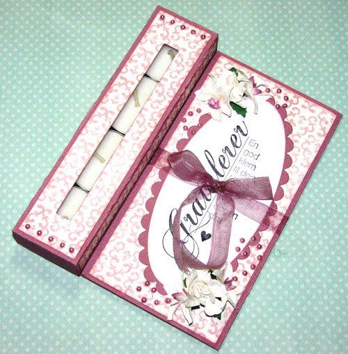 Lena Katrine`s Scrappeskreppe: DT Ett trykk: Issue 04/10 Tutorial Tea-Light Card