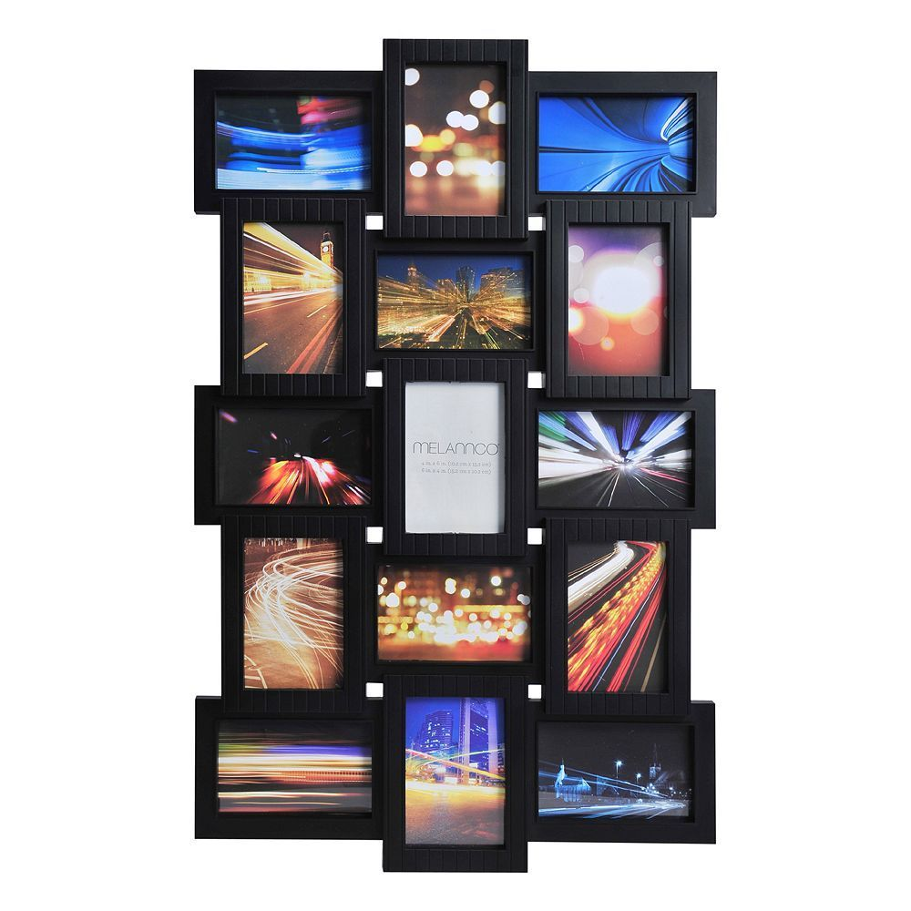 Melannco 15-Opening Photo Collage Frame, Black | Photo collage ...