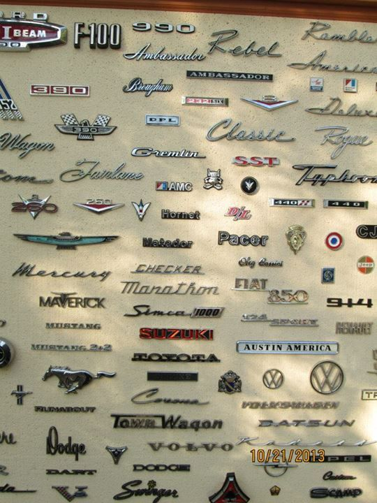 I Wanted This An 8 X 4 Wall Covered In Car Emblems Omg Cars Art Carart Car Emblem Wheel Art Car Art