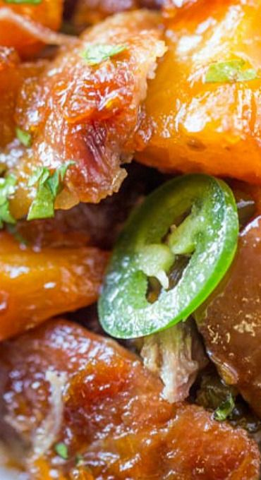 Slow Cooker Jalapeno Pineapple Pork | Pork crockpot recipes, Food recipes,  Crockpot recipes