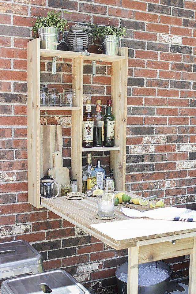 How To Build A Murphy Bar Diy Outdoor Bar Murphy Bar Outdoor