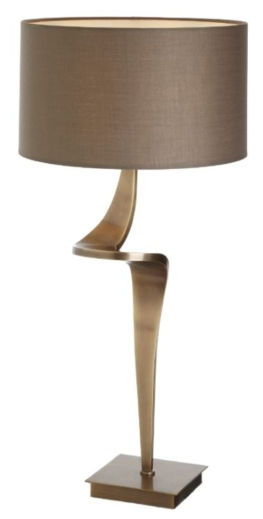 Buy rv astley enzo antique brass table lamp large online cfs uk
