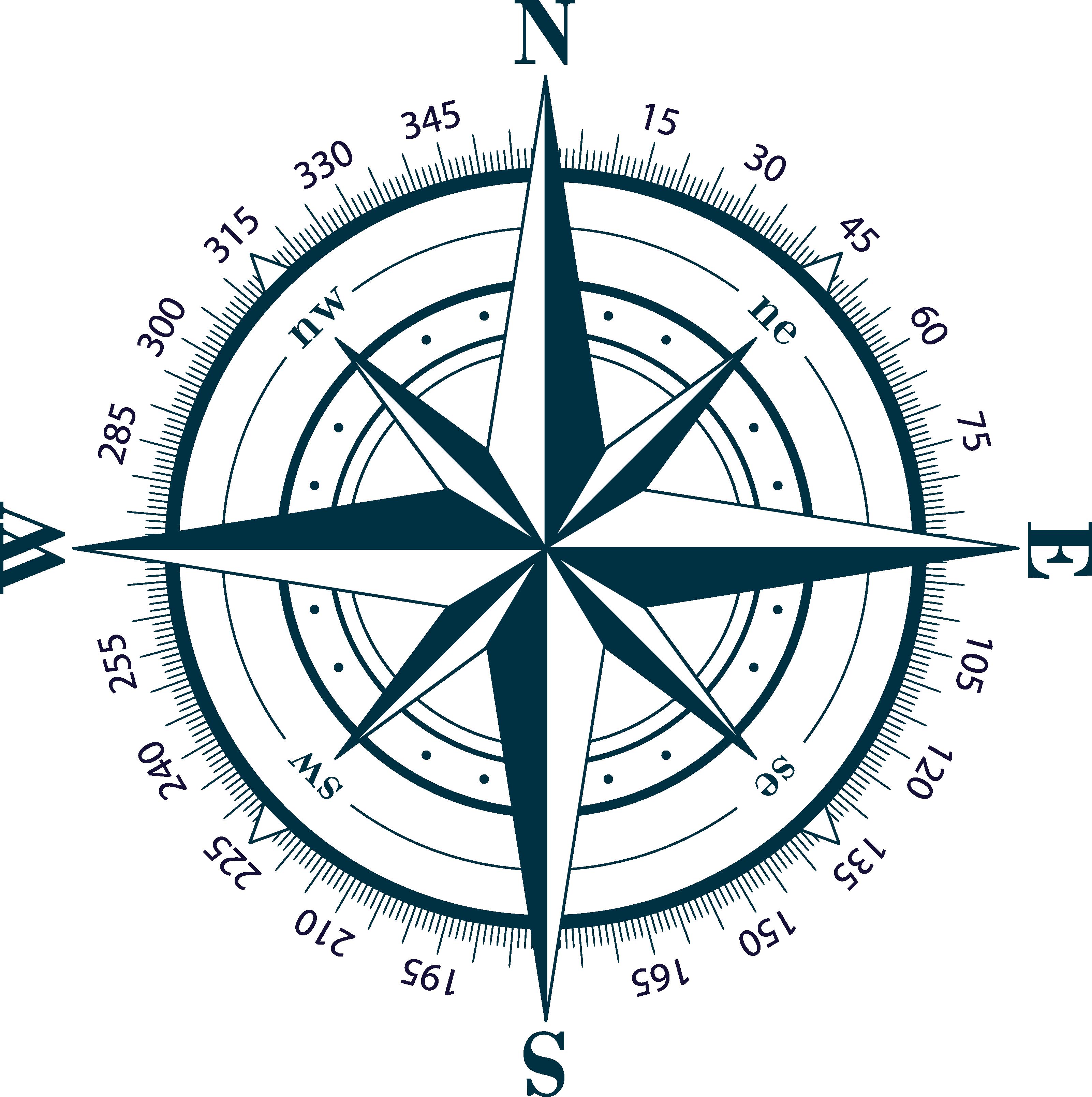 Compass Clip Art Compass Rose Transparent Background