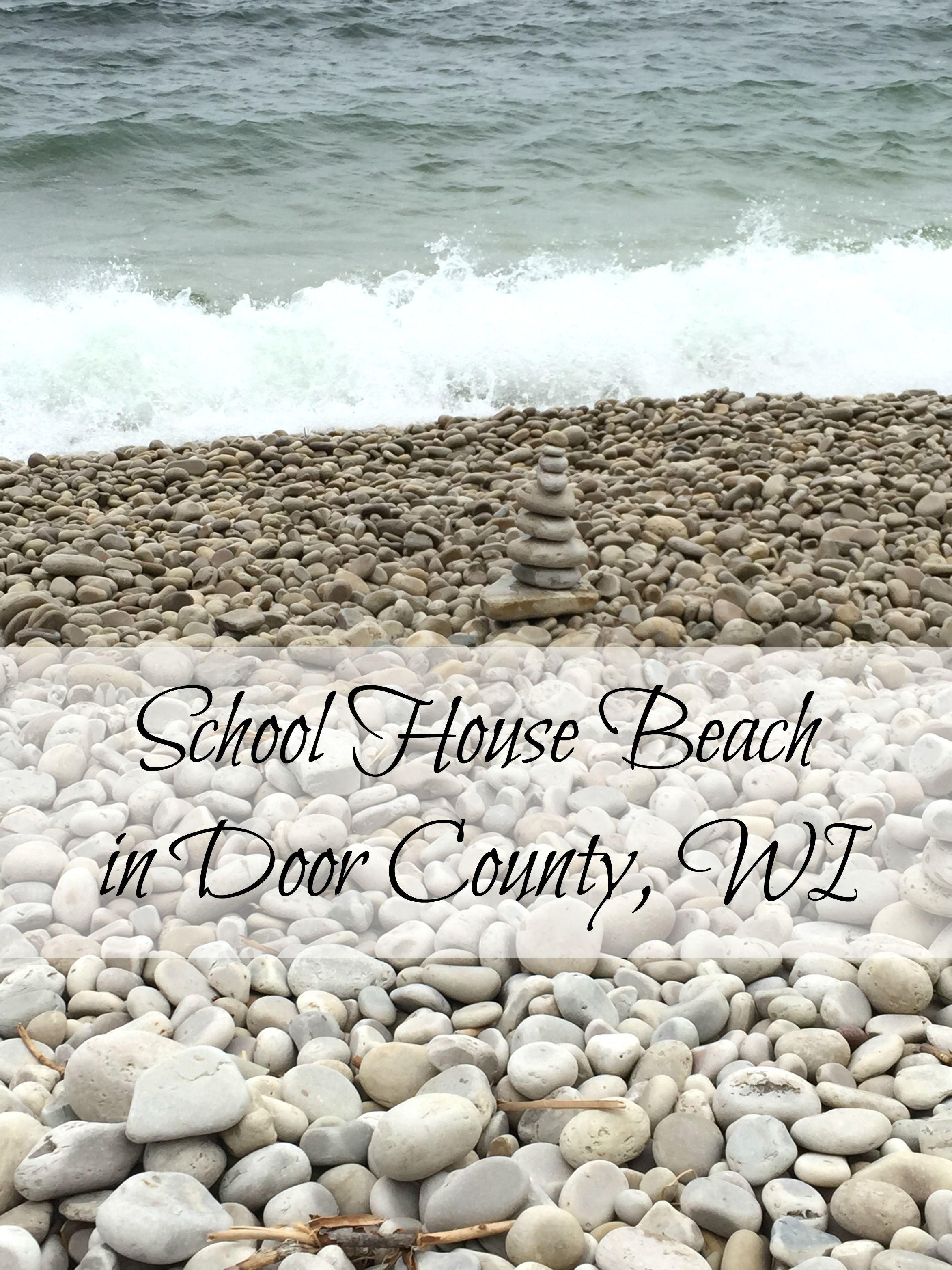 School House Beach in Door County WI