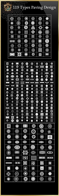 119 types paving design cad blocks free cad blocks drawings