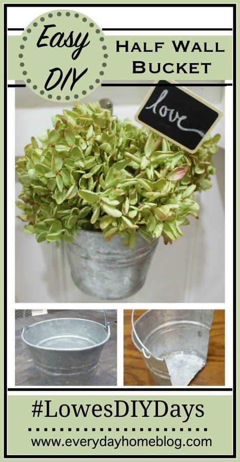 Medium Galvanized Half Hanging Wall Bucket With Images Galvanized Wall Planter Small Basement Remodel Wall Planter