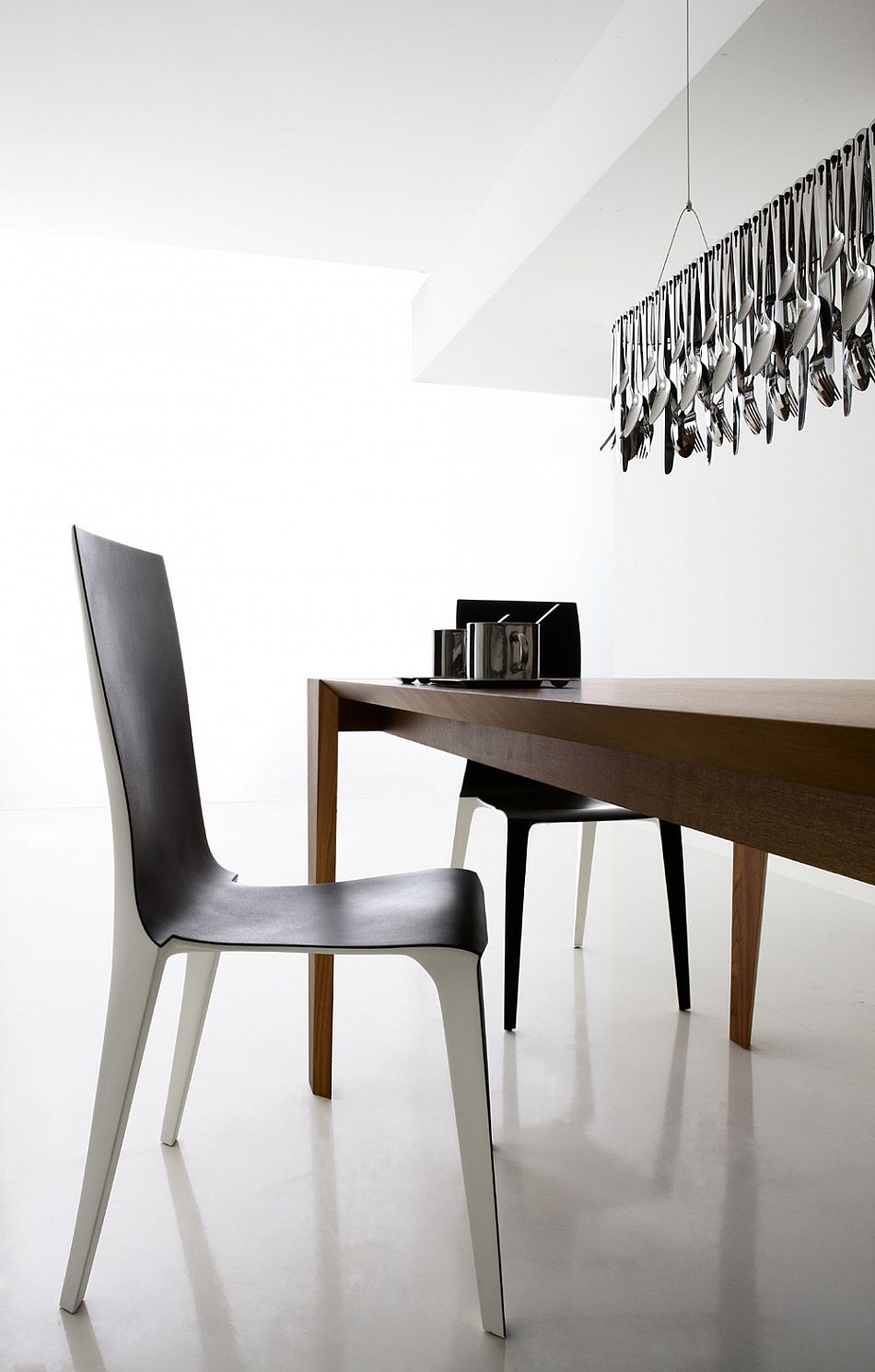Stackable Bicolour Modern Design Dining Chair Milly Dining