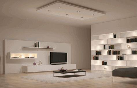 Interior design di illuminazione di caduta del primo piano della