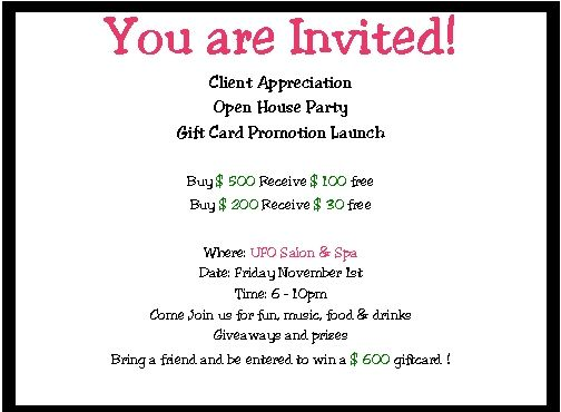 Salon Event Invitation  Google Search  Thank You Party