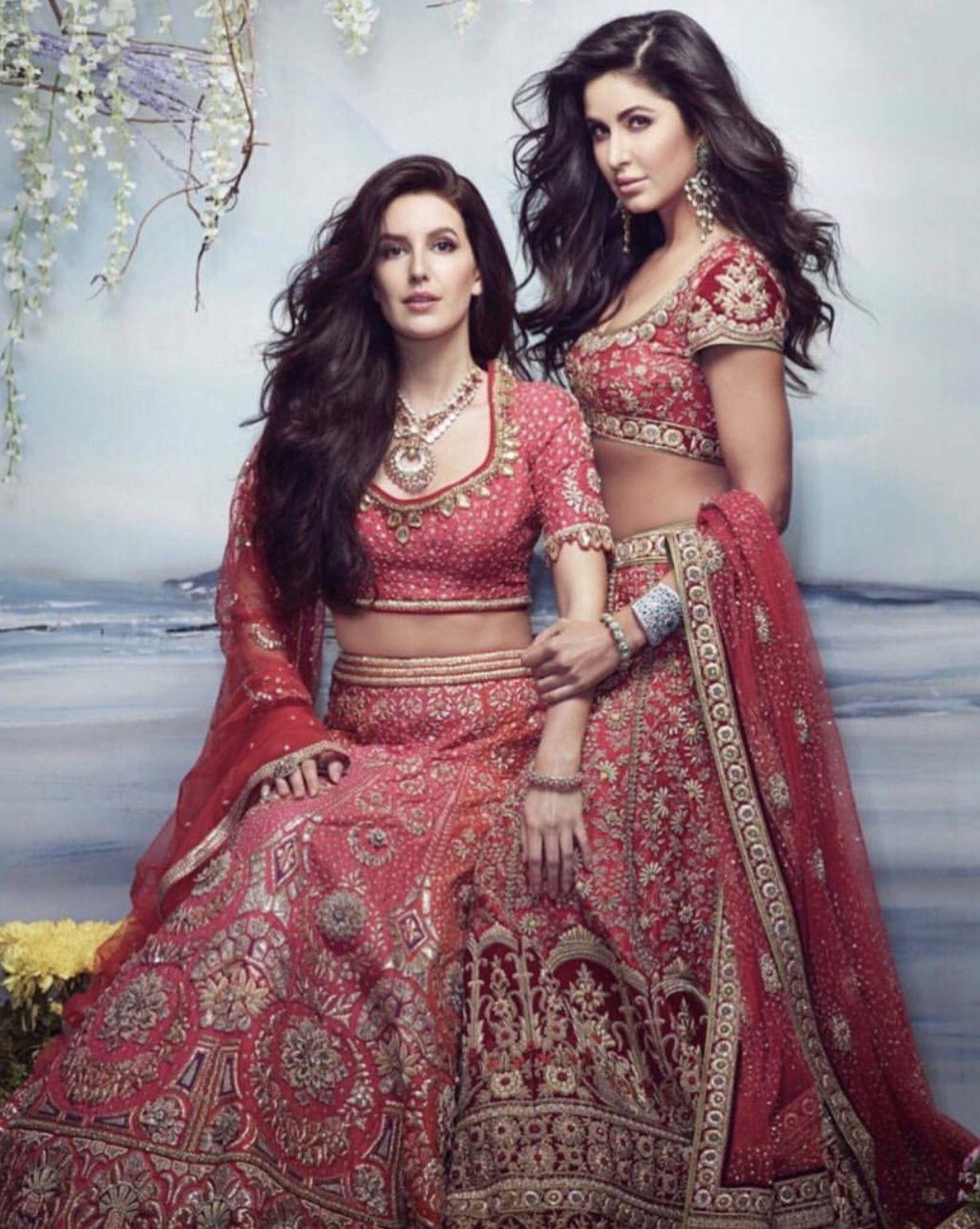 The Gorgeous Katrina Kaif And Sister Isabelle In Tarun Tahiliani Bridal Lehenga Designs For Brides Today Katrina Kaif Katrina Kaif Photo Bollywood Celebrities