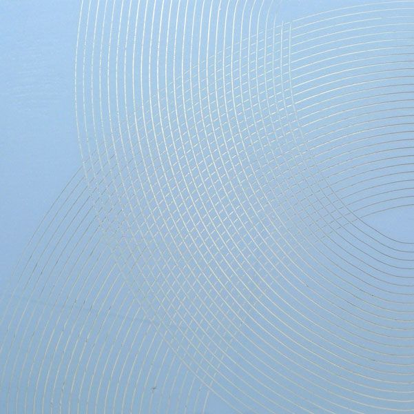 Image 2 of 6 James Boatman Light Blue on Silver 2011 160x160 cm