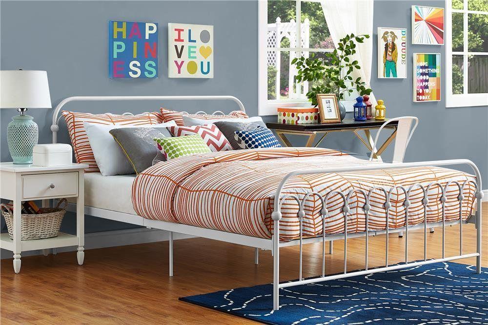 Amazon Com 9 By Novogratz Bright Pop Queen Size Metal Bed Frame
