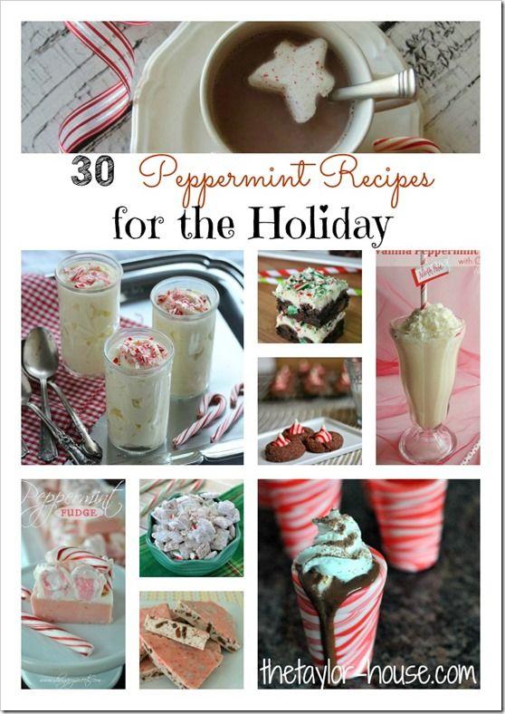 Holiday Recipes: 30 Peppermint Dessert Recipe Ideas #Christmas #recipes #peppermint