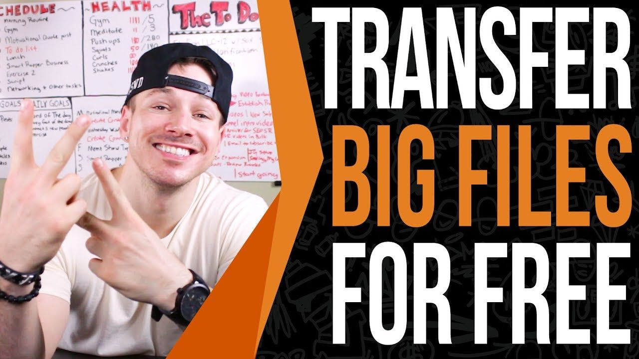 How to transfer big files through the step by
