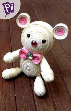 Pintaideas Osito de filigrana, Quilling teddy bear