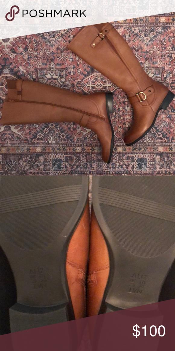 cd26d62e858 Naturalizer Jillian Knee High Leather Boot -size 8 Knee-high